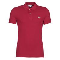 tekstylia Męskie Koszulki polo z krótkim rękawem Lacoste PH4012 SLIM Bordeaux