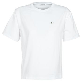 tekstylia Damskie T-shirty z krótkim rękawem Lacoste BENOIT Biały