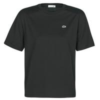 tekstylia Damskie T-shirty z krótkim rękawem Lacoste BERNARD Czarny