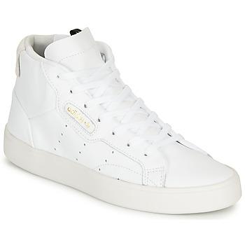 Buty Damskie Trampki wysokie adidas Originals adidas SLEEK MID W Biały