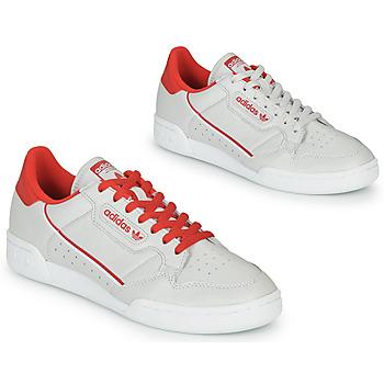 Buty Trampki niskie adidas Originals CONTINENTAL 80 Beżowy / Czerwony