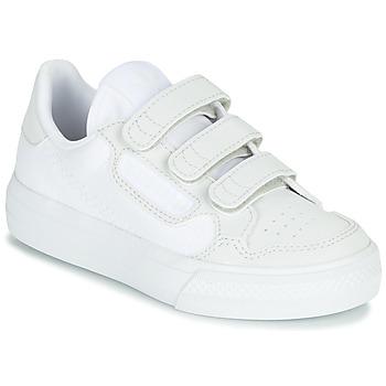 Buty Dziecko Trampki niskie adidas Originals CONTINENTAL VULC CF C Biały / Beżowy