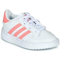 Buty Dziewczynka Trampki niskie adidas Originals NOVICE EL I Biały / Różowy