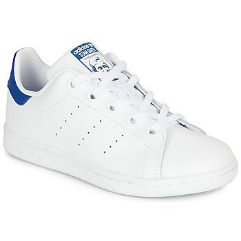 Buty Dziecko Trampki niskie adidas Originals STAN SMITH C Biały / Niebieski