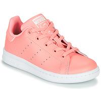 Buty Dziewczynka Trampki niskie adidas Originals STAN SMITH C Różowy