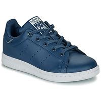 Buty Chłopiec Trampki niskie adidas Originals STAN SMITH C Niebieski