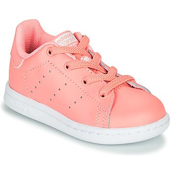 Buty Dziewczynka Trampki niskie adidas Originals STAN SMITH EL I Różowy