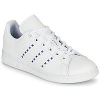 Buty Dziecko Trampki niskie adidas Originals STAN SMITH J Biały / Niebieski