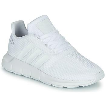 Buty Chłopiec Trampki niskie adidas Originals SWIFT RUN C Biały