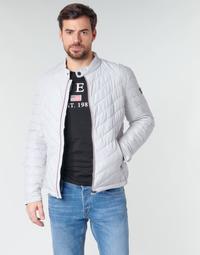 tekstylia Męskie Kurtki pikowane Guess SUPER FITTED JKT TRAVEL Biały