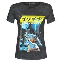 tekstylia Damskie T-shirty z krótkim rękawem Guess SS CN NEON TEE Czarny