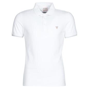 tekstylia Męskie Koszulki polo z krótkim rękawem Guess AMIAS SS POLO Biały