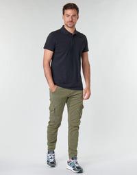 tekstylia Męskie Spodnie bojówki Le Temps des Cerises ALBAN Kaki