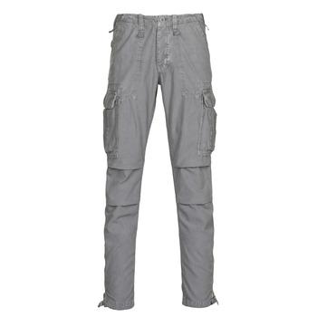 tekstylia Męskie Spodnie bojówki Le Temps des Cerises MIRADO Gunmetal