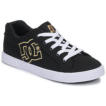 Buty Damskie Trampki niskie DC Shoes CHELSEA TX Czarny / Złoty