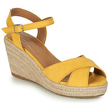 Buty Damskie Sandały Tom Tailor 8090105 Żółty