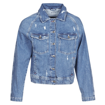 tekstylia Damskie Kurtki jeansowe Esprit  Niebieski / Medium