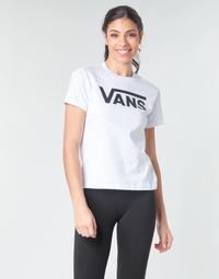 tekstylia Damskie T-shirty z długim rękawem Vans FLYING V CREW TEE Biały