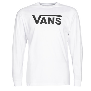 tekstylia Męskie T-shirty z długim rękawem Vans VANS CLASSIC Biały