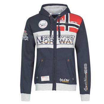 tekstylia Męskie Bluzy Geographical Norway FLYER Marine
