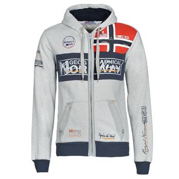 tekstylia Męskie Bluzy Geographical Norway FLYER Szary / Chiné