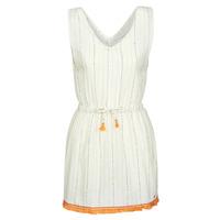 tekstylia Damskie Sukienki krótkie Banana Moon MARZUL MANDALO Biały / Pomarańczowy