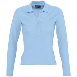 tekstylia Damskie Koszulki polo z długim rękawem Sols PODIUM COLORS Azul