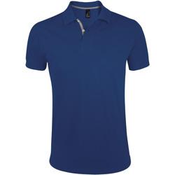 tekstylia Męskie Koszulki polo z krótkim rękawem Sols PORTLAND MODERN SPORT Azul