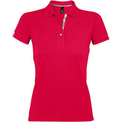 tekstylia Damskie Koszulki polo z krótkim rękawem Sols PORTLAND MODERN SPORT Rojo