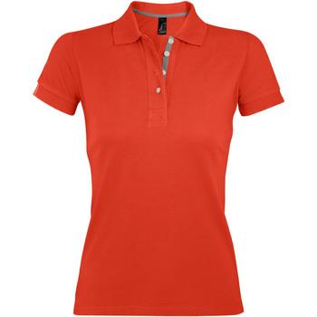 tekstylia Damskie Koszulki polo z krótkim rękawem Sols PORTLAND MODERN SPORT Naranja