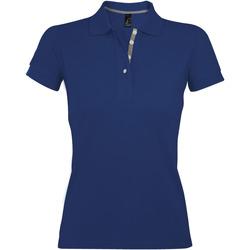 tekstylia Damskie Koszulki polo z krótkim rękawem Sols PORTLAND MODERN SPORT Azul