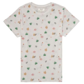 tekstylia Dziewczynka T-shirty z krótkim rękawem Deeluxe ELINA Biały