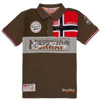 tekstylia Chłopiec Koszulki polo z krótkim rękawem Geographical Norway KIDNEY Kaki