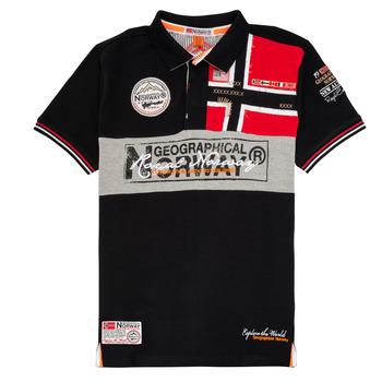 tekstylia Chłopiec Koszulki polo z krótkim rękawem Geographical Norway KIDNEY Czarny