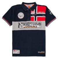 tekstylia Chłopiec Koszulki polo z krótkim rękawem Geographical Norway KIDNEY Marine