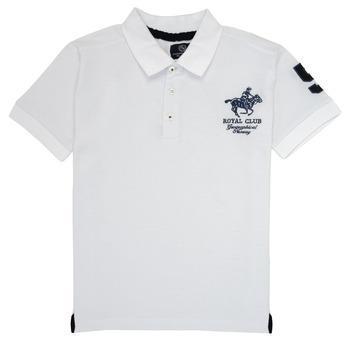 tekstylia Chłopiec Koszulki polo z krótkim rękawem Geographical Norway KAMPAI Biały