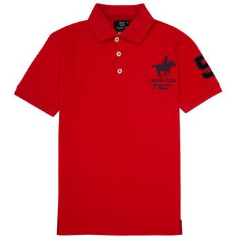 tekstylia Chłopiec Koszulki polo z krótkim rękawem Geographical Norway KAMPAI Czerwony