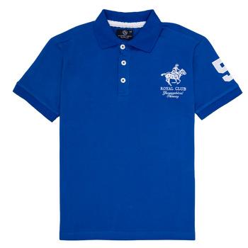 tekstylia Chłopiec Koszulki polo z krótkim rękawem Geographical Norway KAMPAI Niebieski