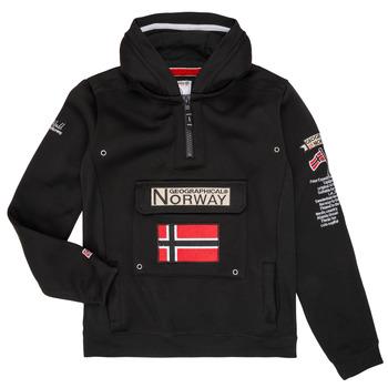 tekstylia Chłopiec Bluzy Geographical Norway GYMCLASS Czarny