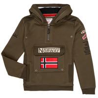 tekstylia Chłopiec Bluzy Geographical Norway GYMCLASS Kaki