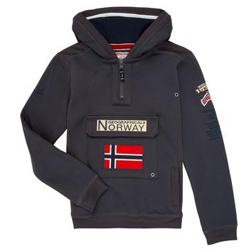 tekstylia Chłopiec Bluzy Geographical Norway GYMCLASS Szary