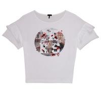tekstylia Dziewczynka T-shirty z krótkim rękawem Ikks DIBILIOU Biały