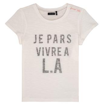 tekstylia Dziewczynka T-shirty z krótkim rękawem Ikks DARRIAL Biały