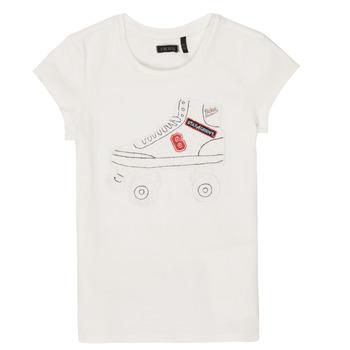 tekstylia Dziewczynka T-shirty z krótkim rękawem Ikks NADANA Biały
