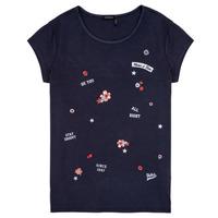 tekstylia Dziewczynka T-shirty z krótkim rękawem Ikks POSTALE Marine