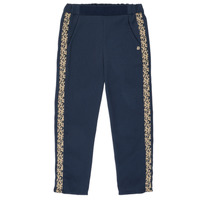tekstylia Dziewczynka Spodnie z lejącej tkaniny / Alladynki Ikks NATHAN Marine