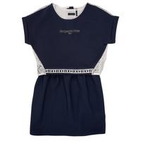 tekstylia Dziewczynka Sukienki krótkie Ikks NIEL Marine