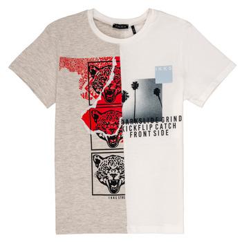 tekstylia Chłopiec T-shirty z krótkim rękawem Ikks RULIO Beżowy / Biały