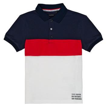 tekstylia Chłopiec Koszulki polo z krótkim rękawem Ikks LORIE Biały