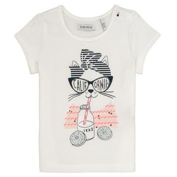 tekstylia Dziewczynka T-shirty z krótkim rękawem Ikks MEOLIA Biały